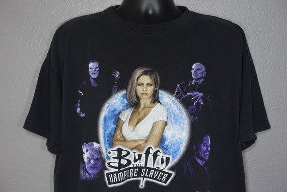1998 Buffy the Vampire Slayer - Get home before Dark - Double Sided Cult TV Show Vintage T-Shirt