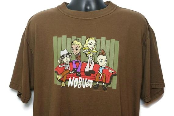 2000s No Doubt Vintage T Shirt - Gwen Stefani Rock Steady Tour Original 00s Concert Band Tee T-Shirt