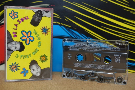 De La Soul Cassette Tape - 3 Feet High And Rising - 1989 Tommy Boy Records Vintage Analog Music