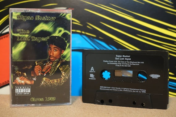 The Lost Tapes by 2Pac Tupac Shakur Vintage Cassette Tape