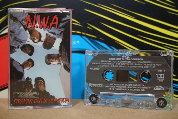 N.W.A. - Straight Outta Compton Cassette Tape - 1988 Priority Records Vintage Analog Music