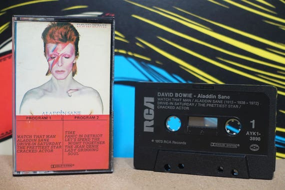 Aladdin Sane by David Bowie Vintage Cassette Tape