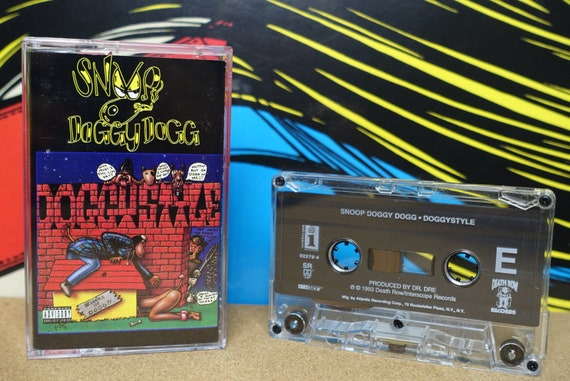 Snoop Doggy Dogg - Doggystyle Cassette Tape Rap Tape 1993 Death Row Interscope Records 90s hip-hop Vintage Analog Music