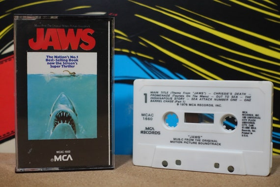Jaws (Music From The Original Motion Picture Soundtrack) by John Williams Vintage Cassette Tape