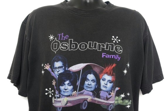 2000s Ozzy Osbourne Family Vintage T Shirt - Y2K Tee MTV Show Shirt Original 00s Cult Reality TV Show T-Shirt on All Sport Heavyweight Tag