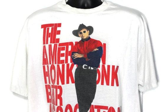1993 Garth Brooks Vintage Shirt - AHBA The American Honky Tonk Bar Association  2-Sided Original 90s Country Concert Band T-Shirt