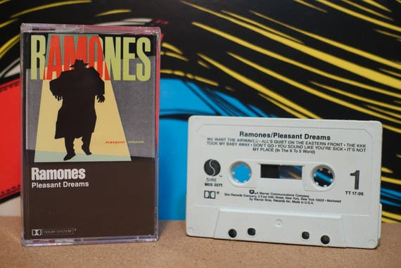Pleasant Dreams by Ramones Vintage Cassette Tape