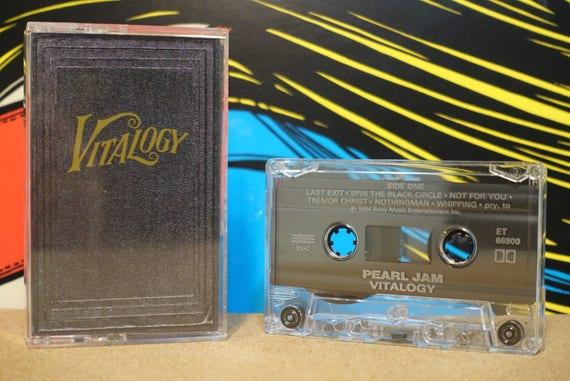 Vitalogy by Pearl Jam Vintage Cassette Tape