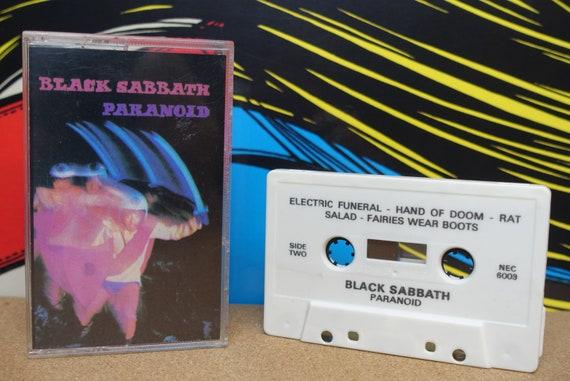 Black Sabbath - Paranoid Cassette Tape - 1970 Warner Bros Records Vintage Heavy Metal Doom Analog Music