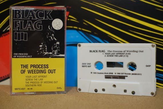 The Process Of Weeding Out by Black Flag Vintage Cassette Tape