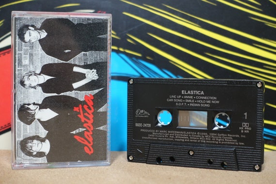 Elastica by Elastica Cassette Tape - 1995 DGC Records - Vintage Analog Music