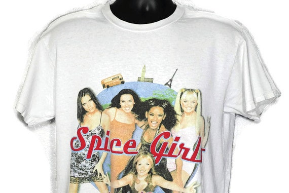 1998 RARE Spice Girls - Girl Power Tour '98 - Double Sided Vintage Concert T-Shirt