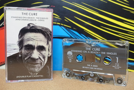 The Cure Cassette, Standing On A Beach Cassette Tape, The Singles (B-Sides) Vintage 1986, Elektra Records, Punk Cassettes, Analog Music