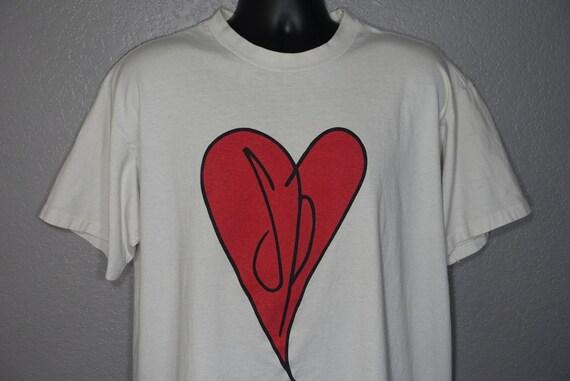 1991 - 1992 RARE Smashing Pumpkins Double Sided - Heart Logo - Gish Tour -  Giant Branded Vintage Concert T-Shirt