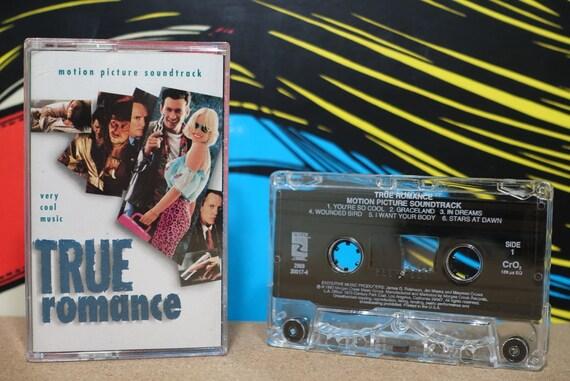 True Romance: Motion Picture Soundtrack by Various Artists Vintage Cassette Tape