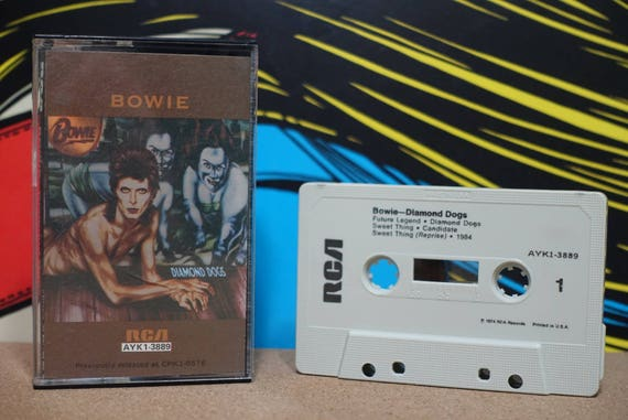 Diamond Dogs by David Bowie Vintage Cassette Tape