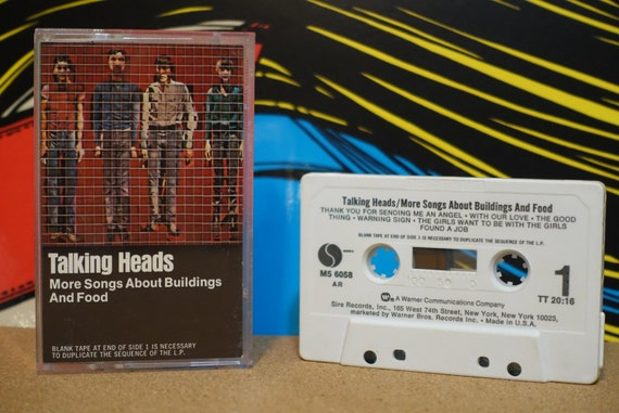 Talking Heads - More Songs About Buildings And Food Cassette Tape - 1978 Sire Records - Vintage Analog Music