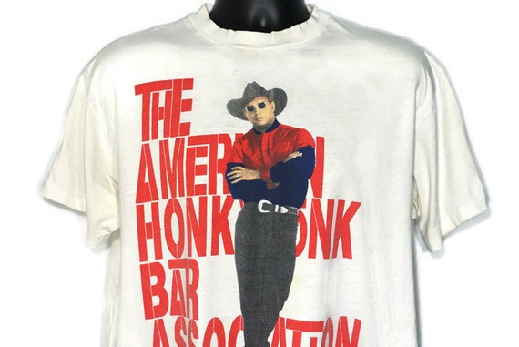 Vintage Original 90s 1993 Garth Brooks - AHBA The American Honky Tonk Bar Association '93 Tour 2-Sided Vintage Country Concert T-Shirt