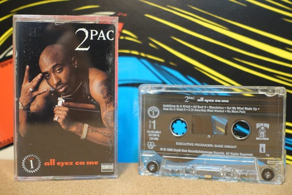 All Eyez On Me by (2 Tapes Included) 2Pac Tupac Shakur Vintage (2) both Cassette Tapes