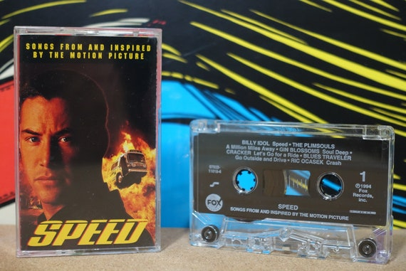Speed (Songs From And Inspired By The Motion Picture) by Various Artists Vintage Cassette Tape