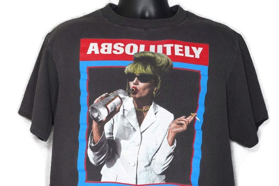 1995 Absolutely Fabulous - Patsy Stone Vodka 100% Sweetie Darling - Cult BBC TV Show Double Sided Vintage T-Shirt