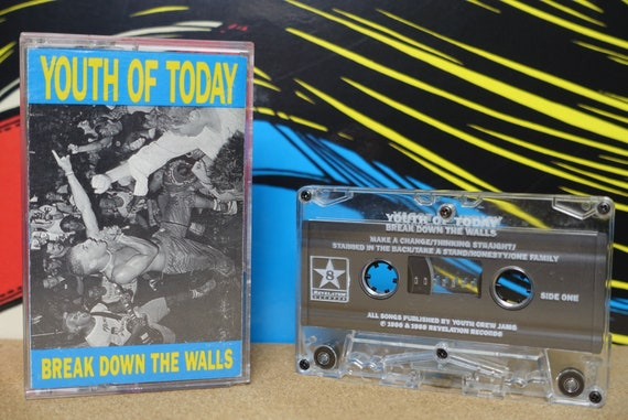 Youth Of Today Break Down The Walls Cassette Tape - 1986 Revelation Records Vintage Analog Music