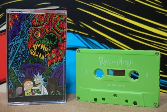 The Rick And Morty Soundtrack Cassette Tape - Various Artists Ryan Elder Get Schwifty Cult TV Show Music