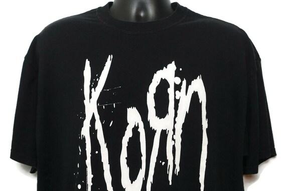 2000s KORN Vintage T Shirt - Bitch We Have A Problem 2 Sided Jerzees Branded Original 00s Concert Nu Metal Goth Band T-Shirt