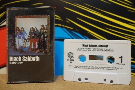 Sabotage by Black Sabbath Vintage Cassette Tape
