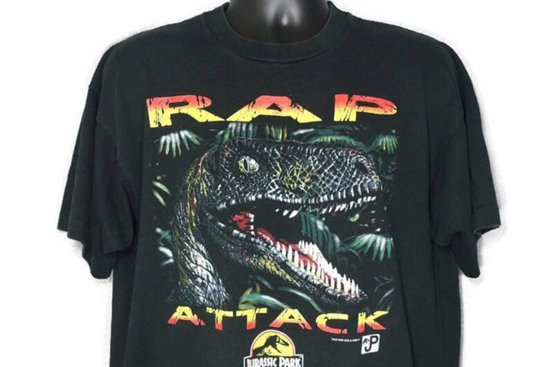 5ab9bcf4 1993 RARE Jurassic Park RAP Attack Raptor JP Logo Vintage   Etsy