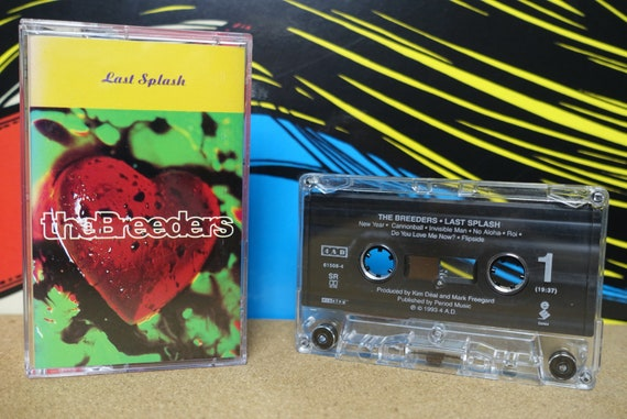 The Breeders Last Splash Cassette Tape - Elektra 4AD Records Vintage Analog Music