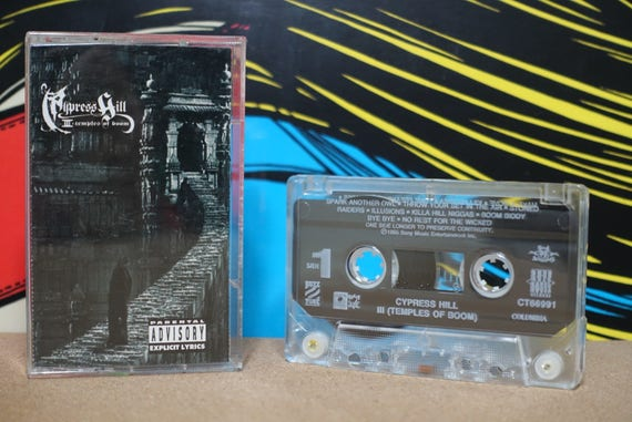 Cypress Hill - III - Temples Of Boom Cassette Tape - 1995 Rush Associated Records Vintage Analog Music