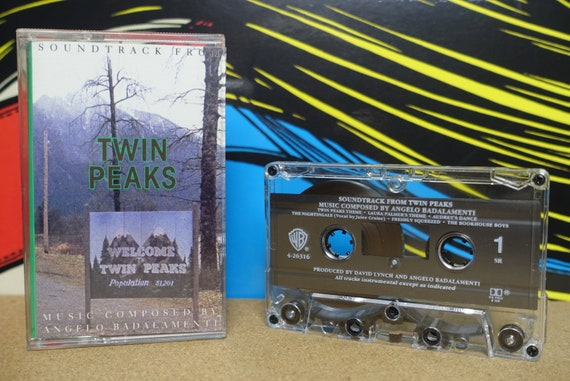 Twin Peaks Cassette Tape Soundtrack by Angelo Badalamenti David Lynch - 1990 Warner Bros. Records Vintage Analog Music