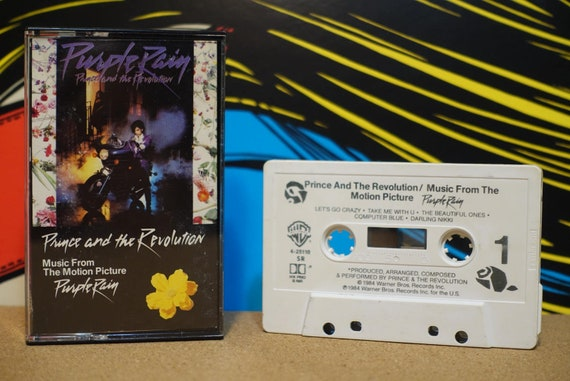 Purple Rain by Prince Vintage Cassette Tape