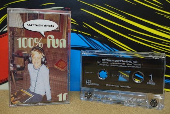 Matthew Sweet - 100% Fun Cassette Tape - 1995 Zoo Entertainment Records Vintage Analog Music