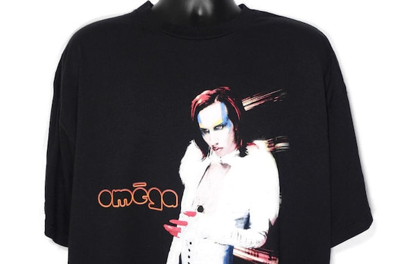 Vintage Original 90s 1998 Marilyn Manson Vintage T Shirt - Omega Mechanical Animals 2XL - Goth Grunge - 2-Sided Winterland Concert T-Shirt