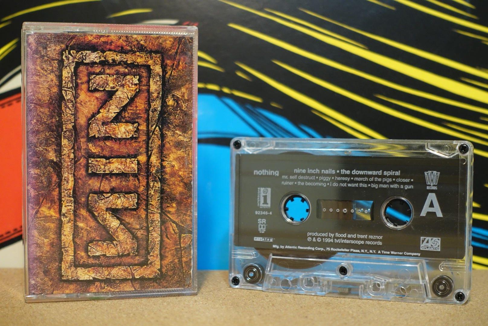 The Downward Spiral by Nine Inch Nails NIN Vintage Cassette Tape
