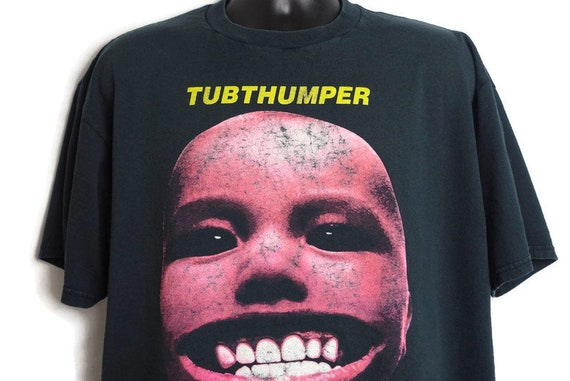 1997 Chumbawamba Vintage T Shirt - Tubthumper Born To Be Bad 2-Sided Original 90s Band Tee Concert T-Shirt