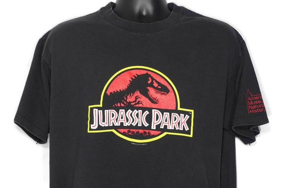 1992 Jurassic Park Original Logo - American Museum of National History Cult Vintage Movie Promo T-Shirt