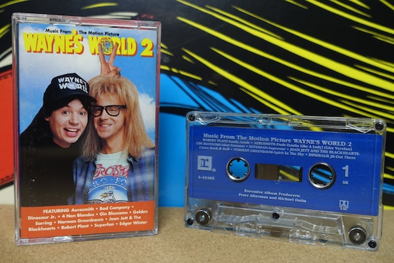 Wayne's World 2 Music From The Motion Picture by Various Artists Vintage Cassette Tape
