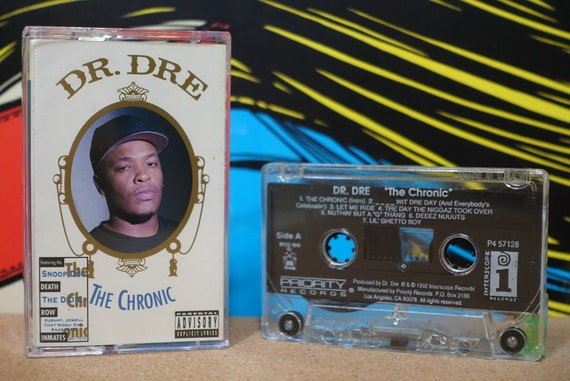 Dr. Dre - The Chronic Cassette Tape - 1992 Priority Interscope Records Vintage Analog Music