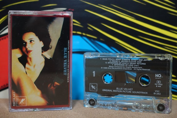 Blue Velvet (Original Motion Picture Soundtrack) by Angelo Badalamenti Vintage Cassette Tape