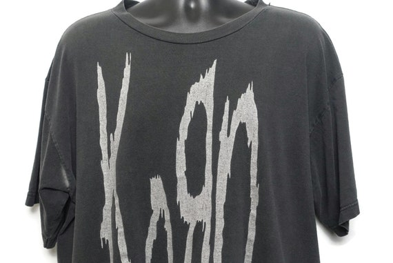 1996 Korn Vintage T Shirt - Life is Peachy 2 Sided Giant Branded Original 90s Concert Band T-Shirt