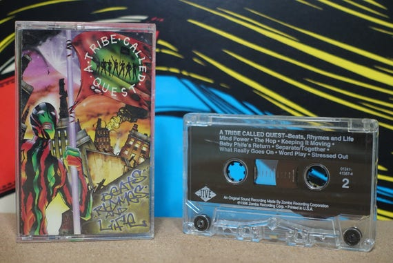 A Tribe Called Quest - Beats, Rhymes And Life Cassette Tape - 1996 Jive Records Vintage Analog Music