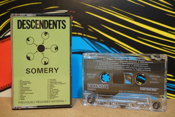 Somery by Descendents Vintage Cassette Tape