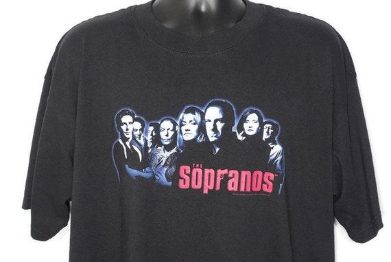 2000 The Sopranos Vintage T Shirt - Tony Soprano Mob Boss Mafia HBO Original 00s Cult TV Show Promo T-Shirt
