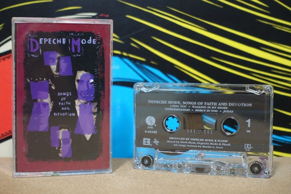 Depeche Mode - Songs Of Faith And Devotion Cassette Tape - 1993 Reprise Records - Vintage Analog Music