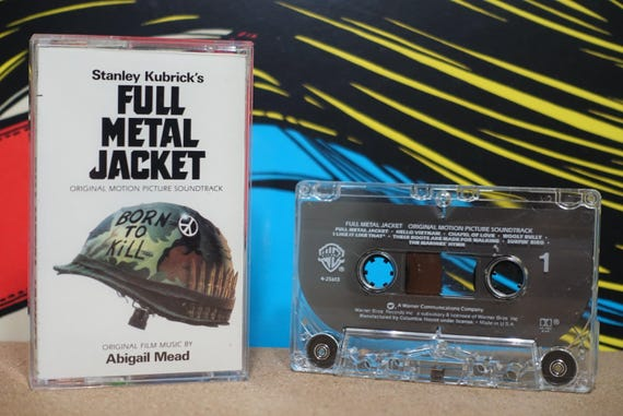 Stanley Kubrick's Full Metal Jacket - Original Motion Picture Soundtrack by Various Artists Vintage Cassette Tape