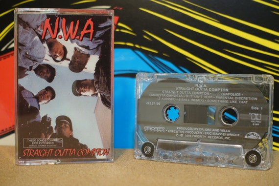 Straight Outta Compton by N.W.A. Vintage Cassette Tape
