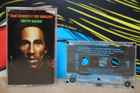 Natty Dread by Bob Marley & The Wailers Vintage Cassette Tape